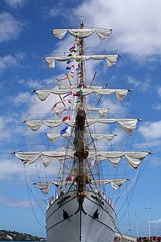 old sail boat