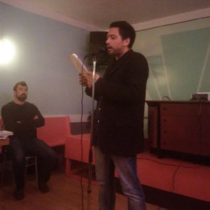 Marc di Saverio at the mic. Credit: Janet Neilson.