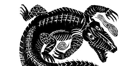 """""""El caimán"""" from Lotería Huasteca."""
