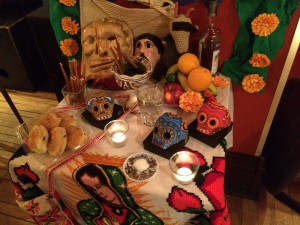 A fascinating Day of the Dead-style display