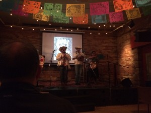 Performance by Mexican son huasteco trio Tlacuatzin. Photo by Miles Dempster