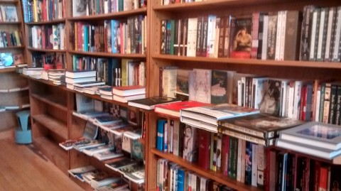 Inside, it is a book lover's paradise, with an impressive assortment of genres, including, of course, a selection of Shakespearean offerings.