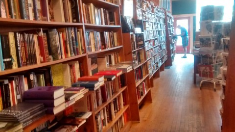 The store may be a bit on the small side, but there are plenty of books to keep this book lover entertained for an hour at least.