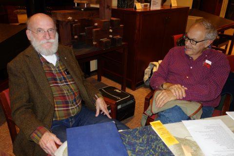 Stan Bevington (Coach House Books) and Will Reuter (Aliquando Press).