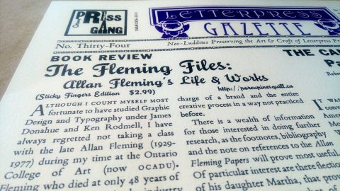 Letterpress Gazette
