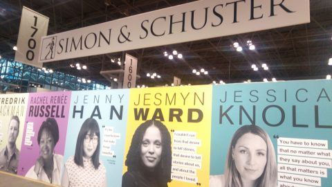 Simon & Schuster booth.