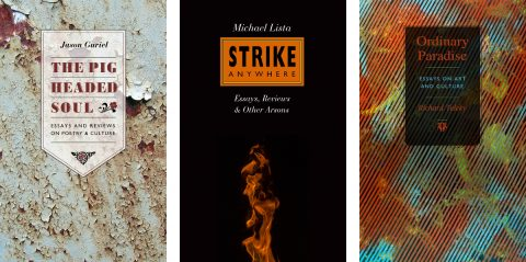 Book covers for The Pigheaded Soul, Strike Anywhere and Ordinary Paradise