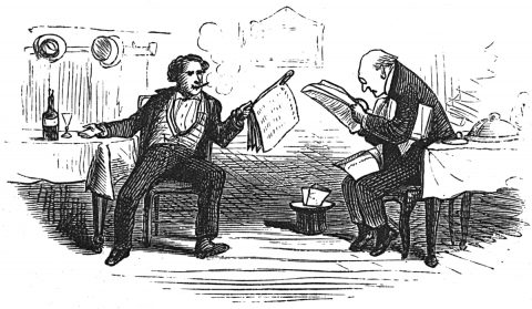two men reading the newspaper