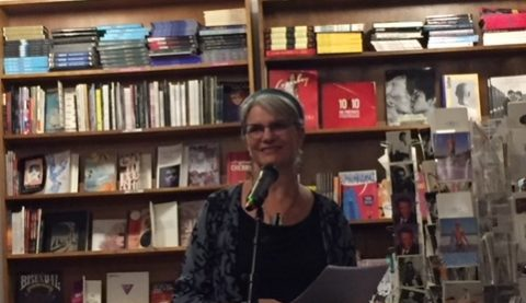 Barbara Sibbald at the Glad Day Bookshop.