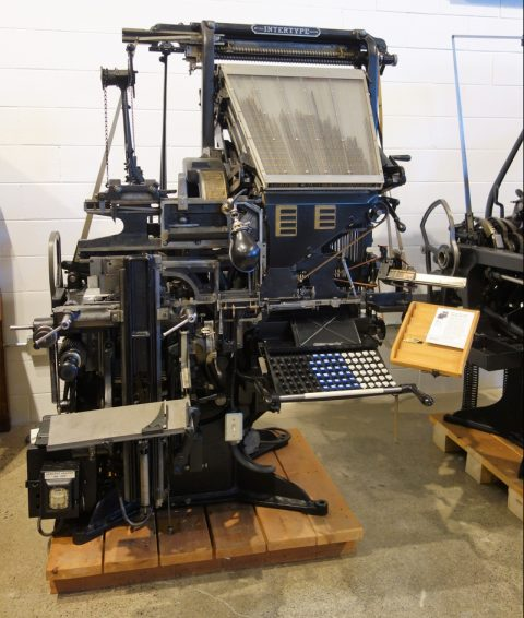 Intertype machine