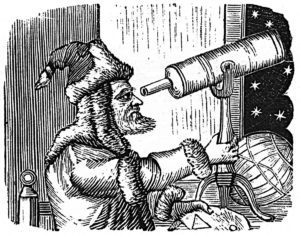 astronomer using telescope