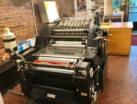 The Porcupine's Quill's Heidelberg KORD printing press.