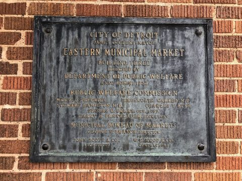 Dedication plaque for Eastern Market