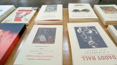 PQL books on display.