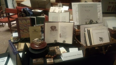 Greyweathers Press display table.