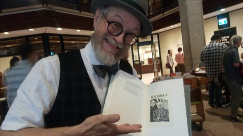 George A. Walker displays his favourite engraving from his limited edition of The Hunting of the Snark.