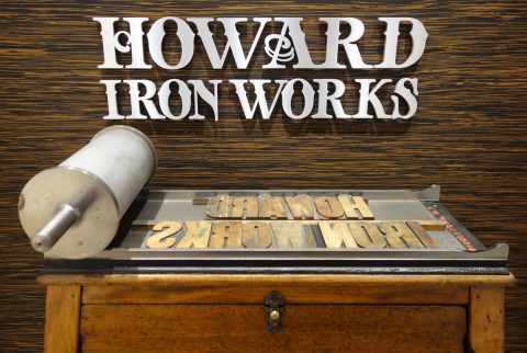 Howard Iron Works sign