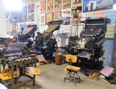 Linotype and other similar machines at Howard Iron Works