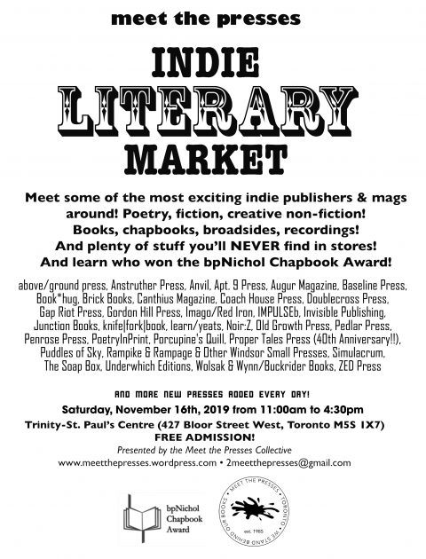 Meet the Presses Indie Literary Market Info