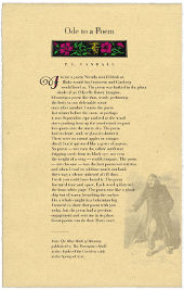 Ode to a Poem by P. C. Vandall - a broadside