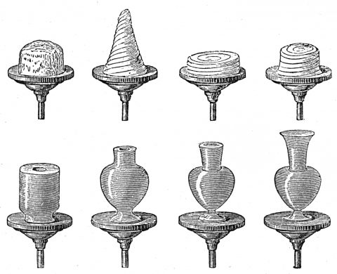 various pottery vessels