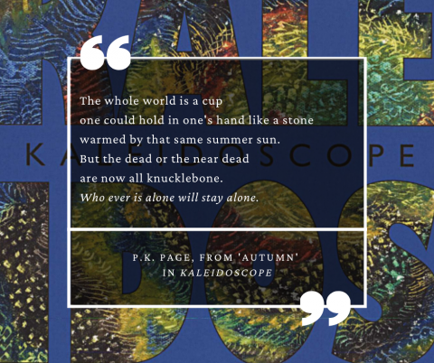 Quote from Kaleidoscope by P. K. Page