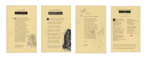 Broadsides of Ode to a Poem, Pompeii, Old Age Is a Tree With Decaying Bark and Not the Sweet Cicely of Gerardes Herball